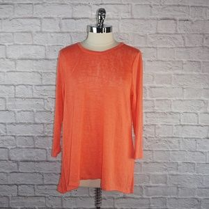 Philosophy Coral Burnout Tunic Top XS
